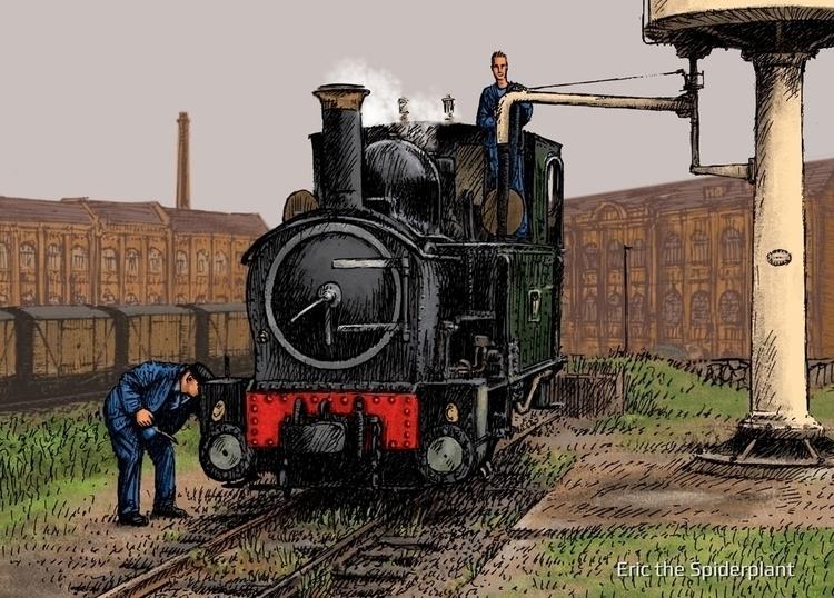 Narrow gauge steam locomotive - #illustration - dannybriggs | ello
