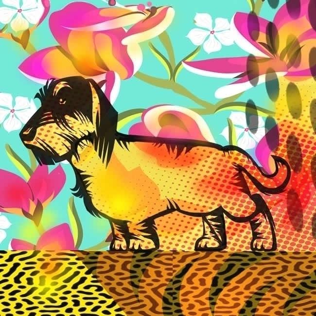 dachshund Limited Edition Gicle - jbstudio | ello