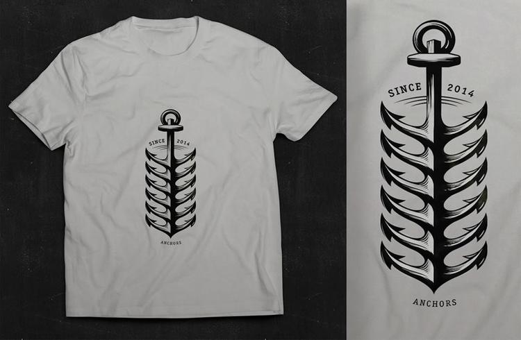 shirt illustration 2014 - vectordrawing - jovana-1168 | ello