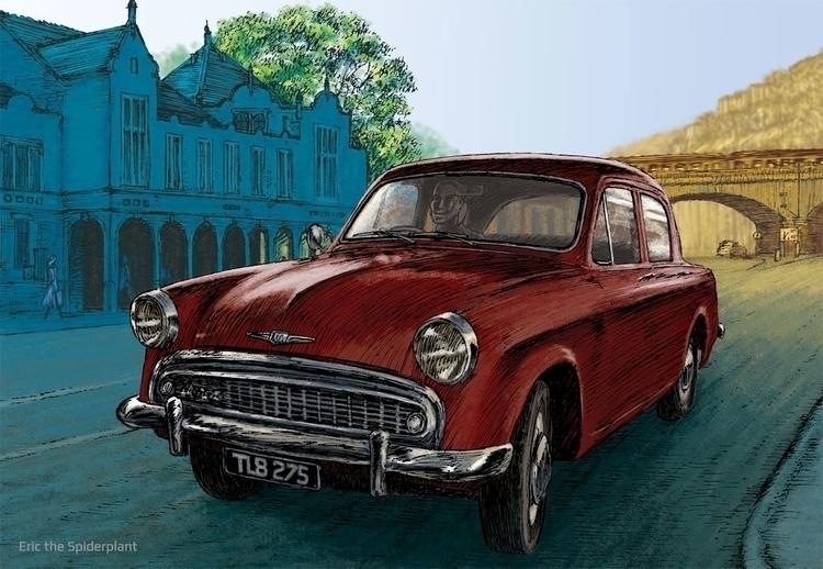 Hillman Minx - #illustration, car - dannybriggs | ello
