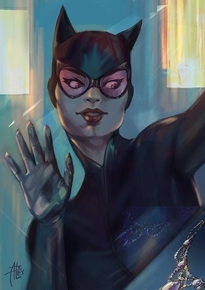 catwoman - illustration, comics - alessandrabelgio | ello