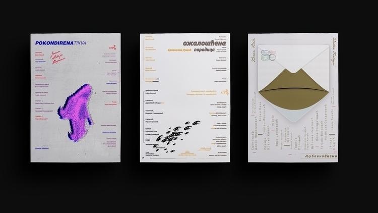 Theatre posters | triptych - illustration - jovana-1168 | ello