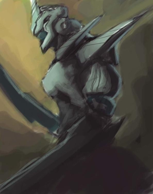 Blade warrior quick sketch - illustration - npzorzetto | ello
