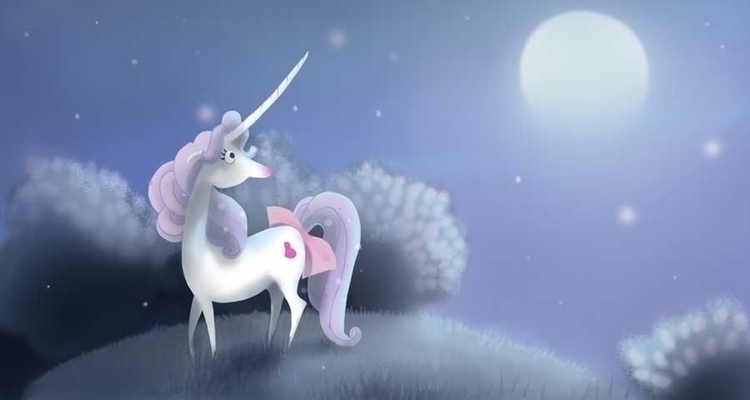 Unicorn - illustration, illustrator - jxtrouvez | ello