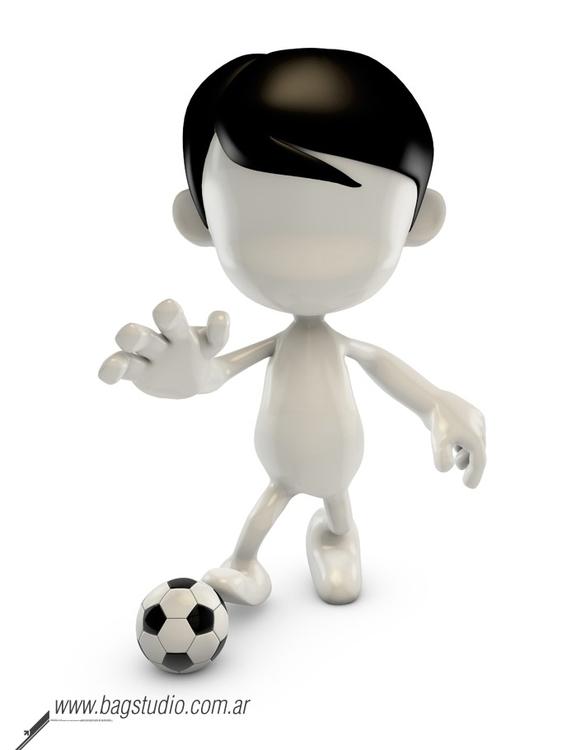 Blank guy playing soccer - illustration - bagstudio | ello