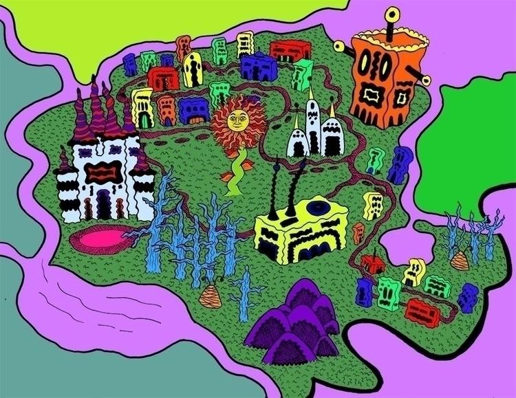 Map Meedajuj - illustration, fantasymap - toryerpenbeck | ello