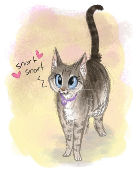 Quick sketch paint cat, Tinkerb - meganamaher | ello