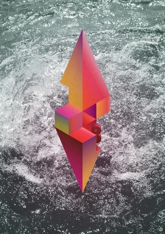 SLOT - poster, vector, geometric - ma7r | ello