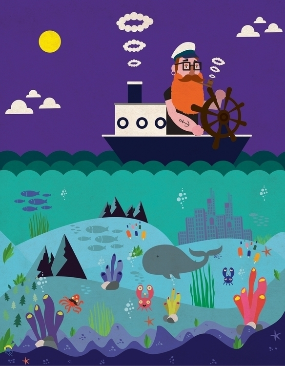 Captain Beardo - children'sillustration - georgemussel | ello