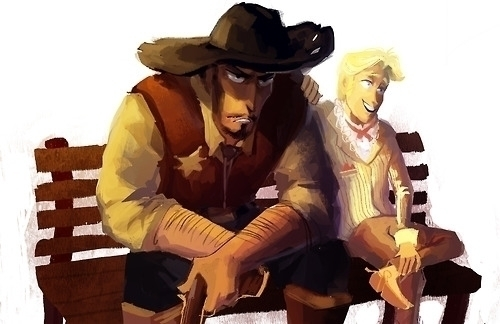 cowboys  - photoshop, characterdesign - dykah | ello