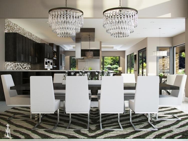 Family room design - rendering, 3dsmax - arqmarenco | ello
