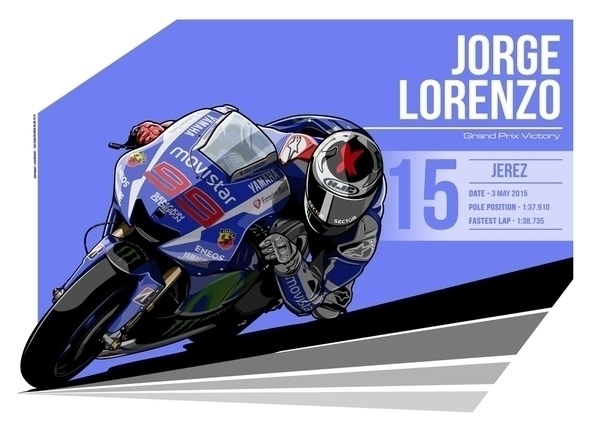Jorge Lorenzo - 2015 Jerez - illustration - evandeciren | ello