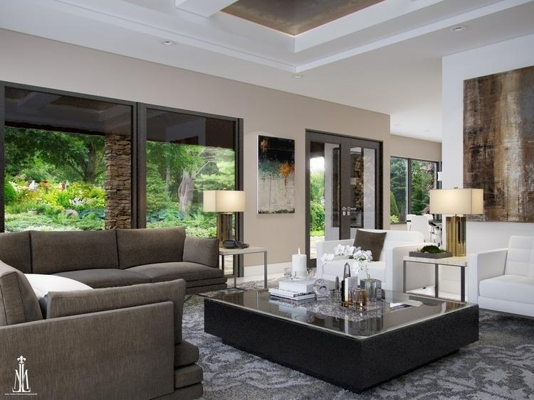 Living room design - 3dsmax, 3dinteriordesign - arqmarenco | ello