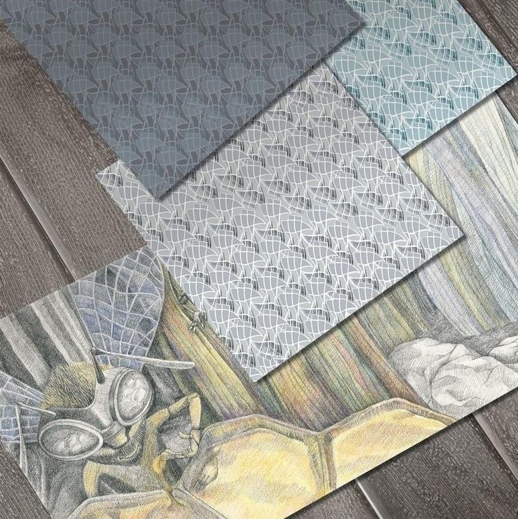 Pattern design book La Fontaine - aja007 | ello