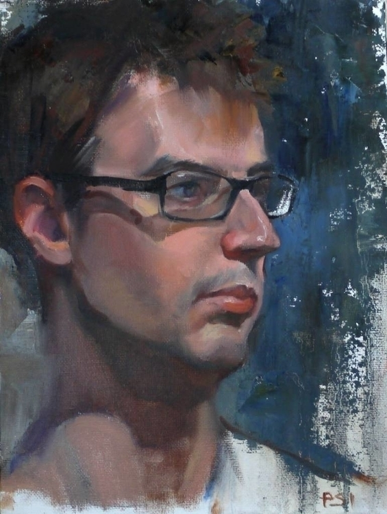 Man glasses / prima painting li - pitchanan | ello