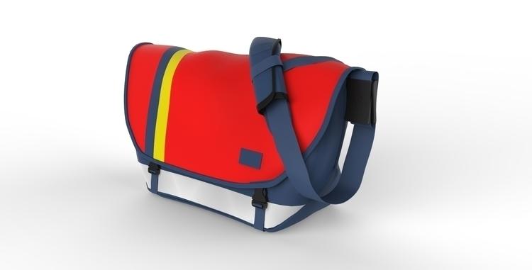 Messenger Bag - 3d, render, realistic - 3dbrianrincon | ello