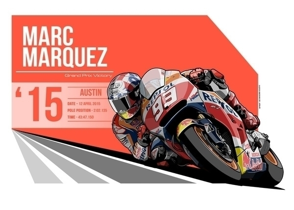 Marc Marquez - 2015 Austin - illustration - evandeciren | ello