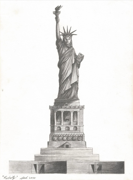 Liberty - illustration, drawing - jarrodkriel | ello