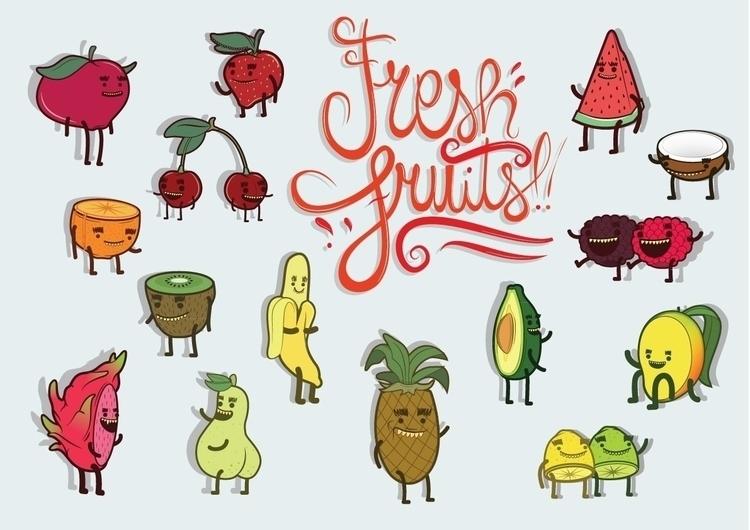 fresh fruit - illustration, illustrator - riccardoguerrucci | ello