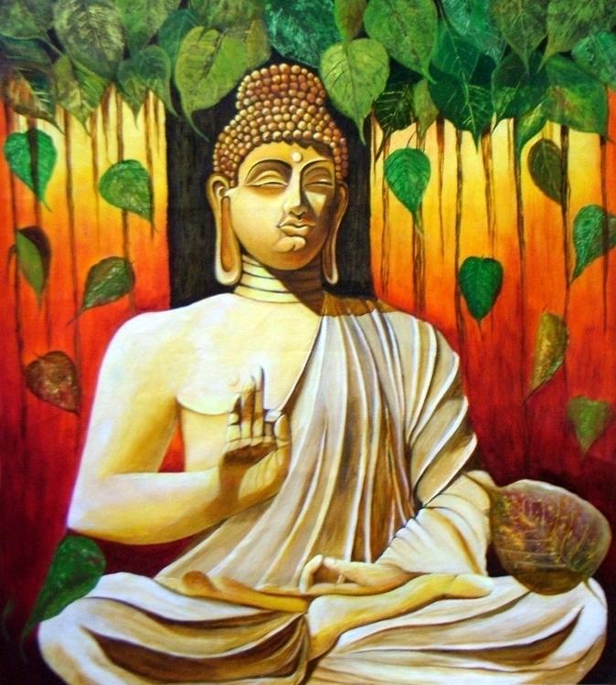 BUDDHA- Enlightened unique art - neeruart | ello