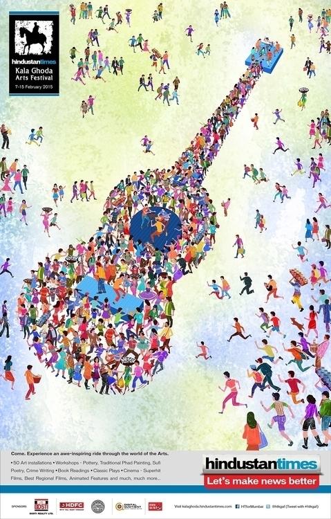 kalaghoda, mumbai 2015 - illustration - pavanrajurkar | ello