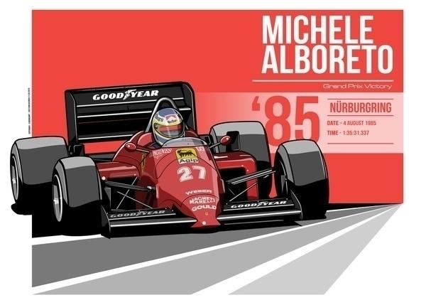 Michele Alboreto - 1985 Nürburg - evandeciren | ello