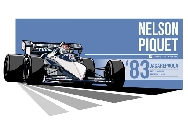 Nelson Piquet - 1983 Jacarepagu - evandeciren   ello