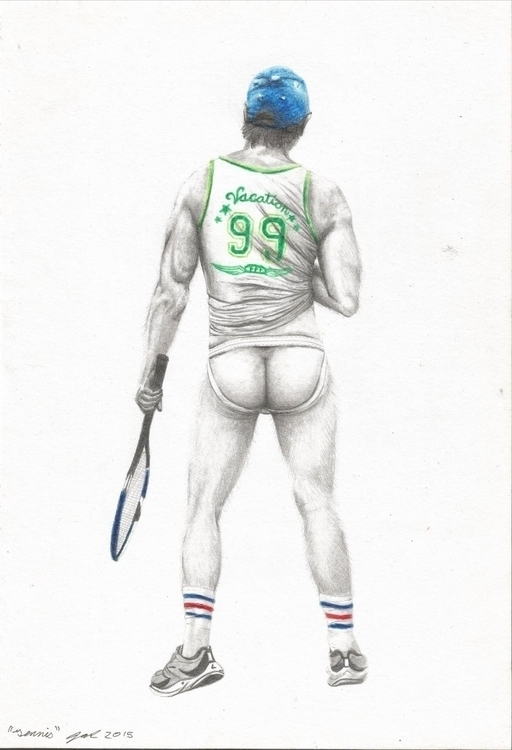 Tennis - drawing, illustration - jarrodkriel | ello