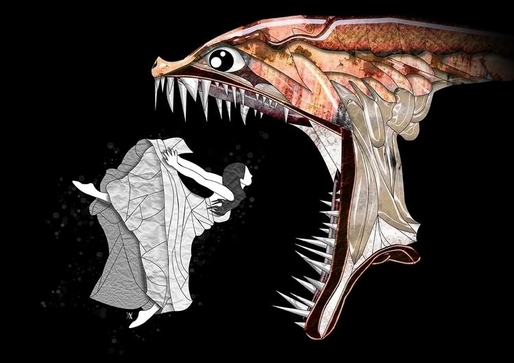 Monster - illustration, digitalart - akumimpi | ello