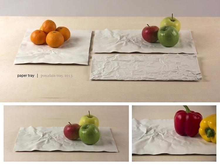 Paper tray porcelain - fooddesign - imreszti | ello