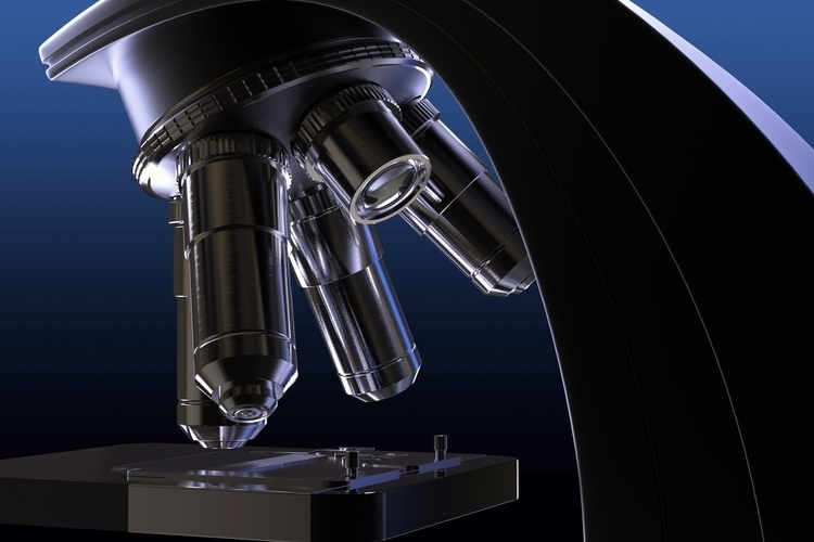Microscope - science, 3d, microscope - vartik | ello