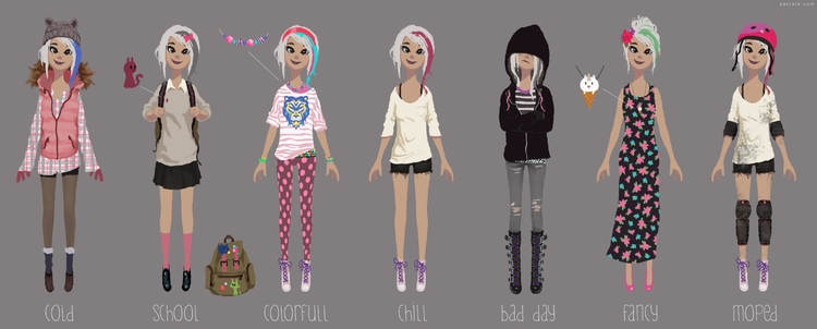 girl clothing designs Feel free - zacretz | ello
