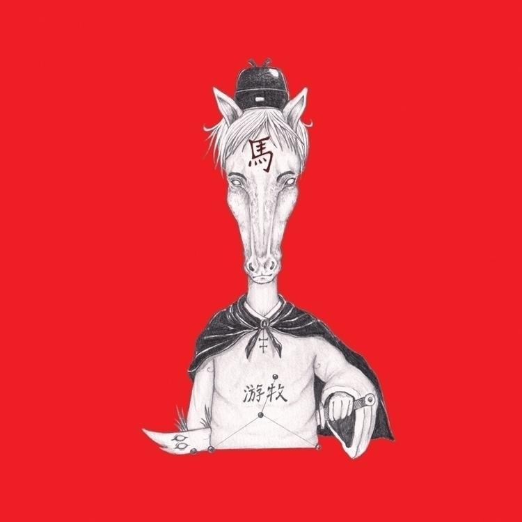Horse - illustration, conceptart - hardilim   ello