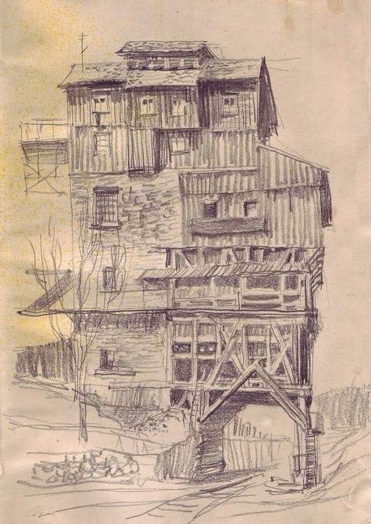 Creepy house - illustration, drawing - gretaberlin | ello