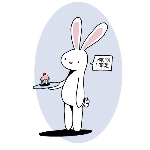 Oliver Rabbit - rabbit, illustration - roxanneeee | ello