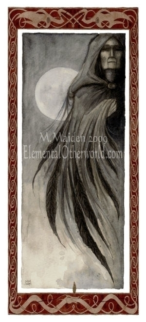 Morrigan, 2009, Watercolour - raven - mmaiden | ello