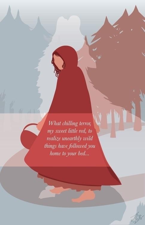 Red Riding Hood--Poster illustr - jessieg-1223   ello