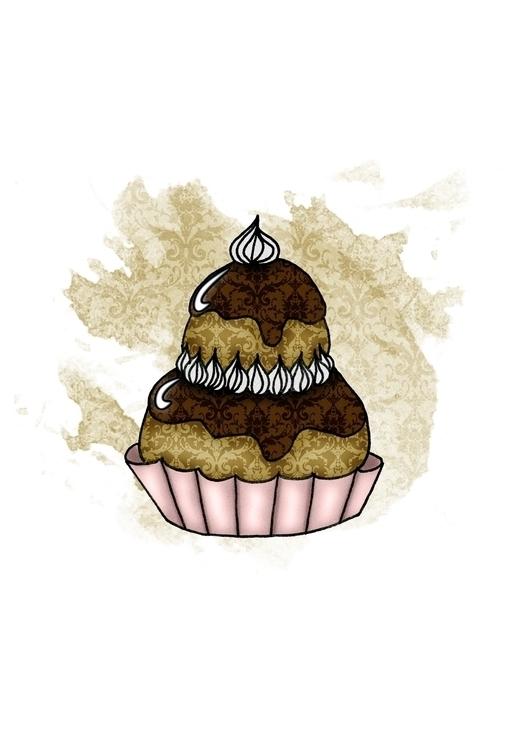 Cake - 1, illustration, drawing - akumimpi | ello