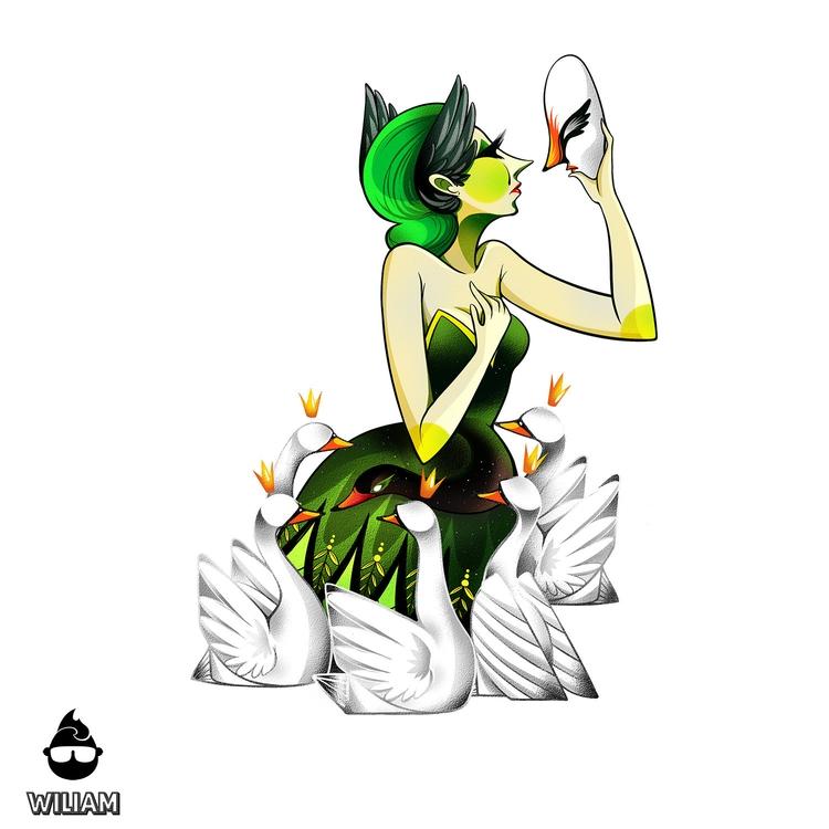 Envy - Black Swan - playingcards - wiliam-1189 | ello