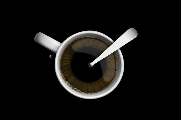 Coffe - illustration, digitalart - akumimpi | ello
