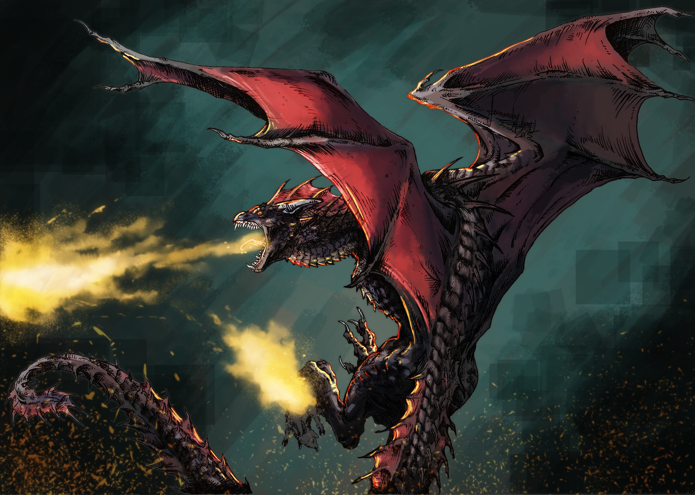Fury - drawing, illustration, dragon - feradami | ello
