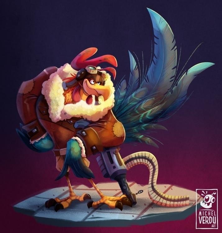 illustration, painting, characterdesign - michelverdu | ello