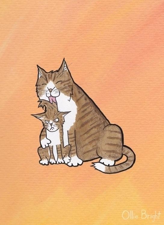 Mother Cat - mother, cat, kitten - olliebright   ello
