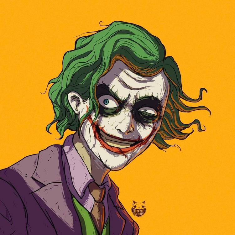 Joker - illustration, drawing, digitalart - maodraws | ello