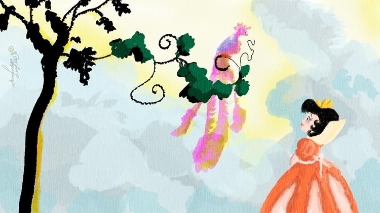 painting, illustration, princess - amandaloyolla   ello