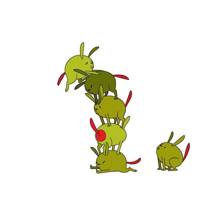 Olive Dogs - food, dog, illustration - kaseythegolden   ello