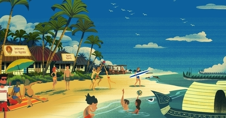 Kerala Beach pair flip flops be - artofmoish | ello
