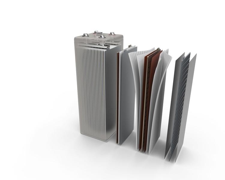 Battery 12V - 3d, render, realisitc - 3dbrianrincon | ello