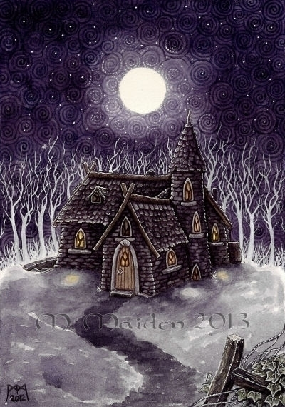 Witches Cottage, 2012, 9in 12in - mmaiden | ello