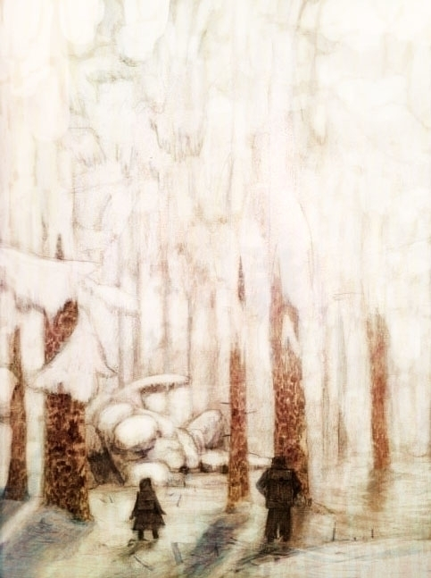 Frozen Forest - drawing, illustration - kennethshearer-1623 | ello